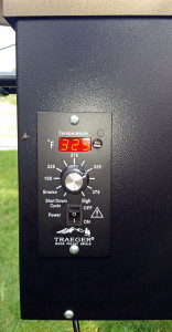 Digital controller on the Traeger