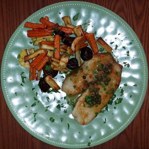 Tilapia and veggies