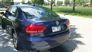 VW Passat with South Dakota plates