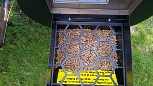 Pellet hopper full of pellets