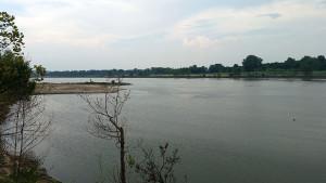 Arkansas River on the edge of the park