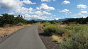 Beautiful paved bike path in Santa Fe
