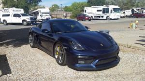 Porsche Cayman GT4 left behind
