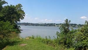 View northwest of the Arkansas River - lake