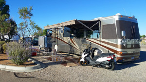 Our site at High Desert RV Park