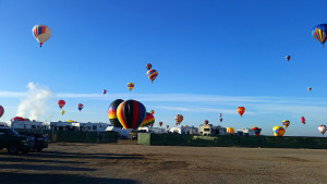 Balloons landing in the RV park
