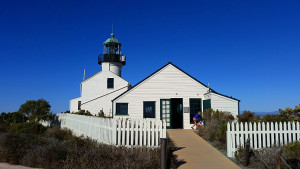 Old lighthouse and keepers quarters