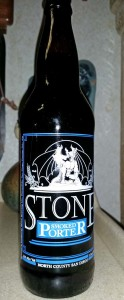 Stone smoked porter I opened for Donna Monday night