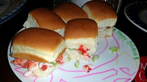 Lobster sliders - yum