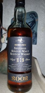 13 year old Speyside single malt scotch