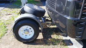 Trailer Toad is short coupled to the coach - Spare tire included