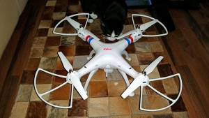 Syma X8W quadcopter fully assembled