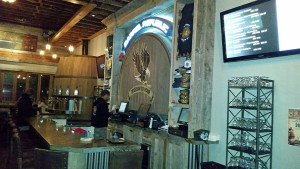 The bar at Barrel Republic - the sign says Freedom to Pour