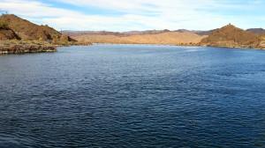 Colorado River behind the dam