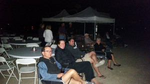 Watching the fireworks from our ACA viewing area
