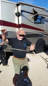 Ed working the hoop