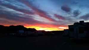 Saturday night sunset in the desert