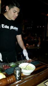 Our waiter, Carlos, making guacamole