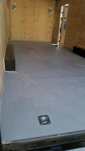 Floor covered with Glidden Porch and Floor paint