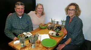 Matt, Michelle and Donna at BRI