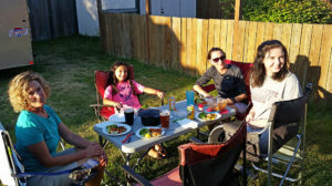 Dining al fresco with the girls