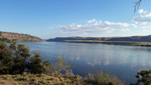 Columbia River view from the RV park