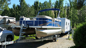 Our neighbor's pontoon boat