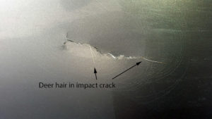 Crack in fiberglass laminate side wall