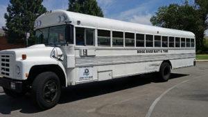 Ancient Bluebird bus