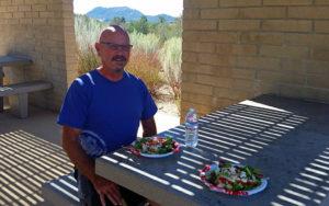 Dining al fresco at Buckman Springs